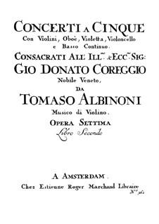Концерты No.7-12: Партия первой скрипки by Томазо Альбинони