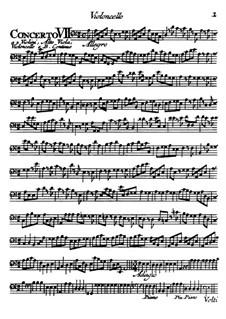 Концерты No.7-12: Партия виолончели by Томазо Альбинони