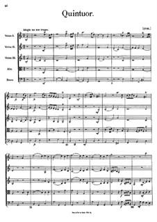 Струнный квинтет: Партитура by Иоганн Георг Альбрехтсбергер