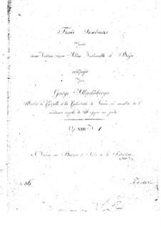 Шесть струнных секстетов, Op.13: Секстеты No.1-3 by Иоганн Георг Альбрехтсбергер