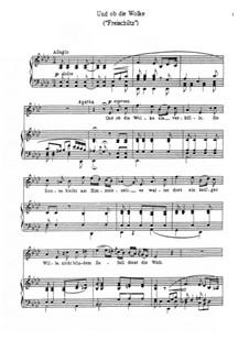 Акт III, No.12 Каватина: Клавир с вокальной партией by Карл Мария фон Вебер