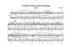 5 Simple pieces for piano: Second book, No.1, MVWV 684 by Maurice Verheul