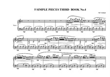 5 Simple pieces for piano: Third book, No.4, MVWV 692 by Maurice Verheul