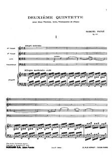 Фортепианный квинтет No.2 до минор, Op.115: Партитура by Габриэль Форе