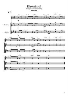 El rossinyol (pop. catalana) en jazz (sax duo): El rossinyol (pop. catalana) en jazz (sax duo) by folklore