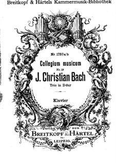 No.3 ре мажор, W B45: Версия для скрипки, виолончели и фортепиано – партитура by Иоганн Христиан Бах