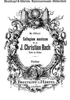 No.3 ре мажор, W B45: Версия для скрипки, виолончели и фортепиано – партия скрипки by Иоганн Христиан Бах