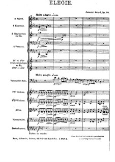 Элегия, Op.24: Для виолончели с оркестром by Габриэль Форе