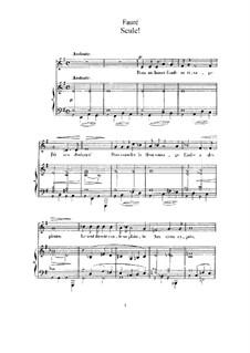 Две песни, Op.3: No.1 Seule! (Alone) in E Minor by Габриэль Форе