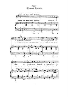 Две песни, Op.3: No.2 Tuscan Serenade (B Flat Minor) by Габриэль Форе