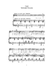 Две песни, Op.3: No.2 Tuscan Serenade (C Minor) by Габриэль Форе