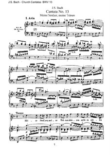 Meine Seufzer, meine Tränen, BWV 13: Клавир с вокальной партией by Иоганн Себастьян Бах