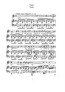 Две песни, Op.43: No.1 Noël (F Major) by Габриэль Форе