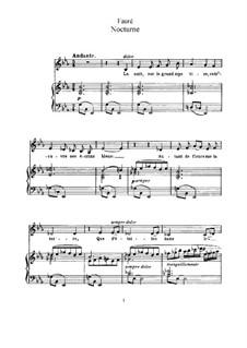 Две песни, Op.43: No.2 Nocturne (E Flat Major) by Габриэль Форе