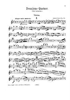 Фортепианный квартет No.2 соль минор, Op.45: Партии струнных by Габриэль Форе