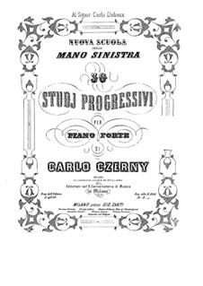 Тридцать этюдов для левой руки, Op.861: Для фортепиано by Карл Черни