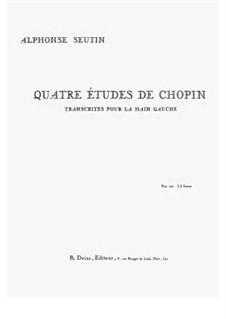 Four Etudes. Transcription for the left Hand, Op.10, 25: Four Etudes. Transcription for the left Hand by Фредерик Шопен