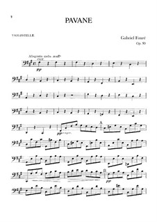Павана, Op.50: Партия виолончели by Габриэль Форе