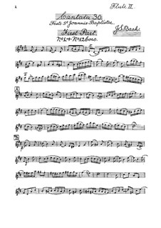 Радуйтесь, спасённые народы, BWV 30: Партия II флейты by Иоганн Себастьян Бах