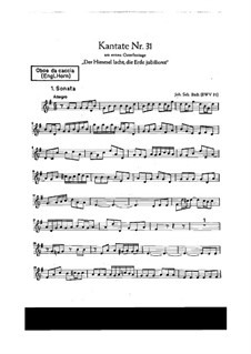 Der Himmel lacht! Die Erde jubilieret, BWV 31: Oboe da caccia part by Иоганн Себастьян Бах