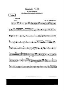 Der Himmel lacht! Die Erde jubilieret, BWV 31: Партия литавр by Иоганн Себастьян Бах