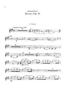 Павана, Op.50: Партии скрипок by Габриэль Форе