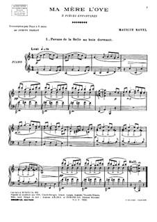 Матушка Гусыня. Сюита, M.60: Для фортепиано by Морис Равель