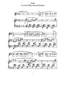 Четыре песни, Op.51: No.4 La rose by Габриэль Форе