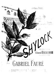 Шейлок. Сюита, Op.57: Чаасть II. Антракт, для фортепиано в четыре руки by Габриэль Форе
