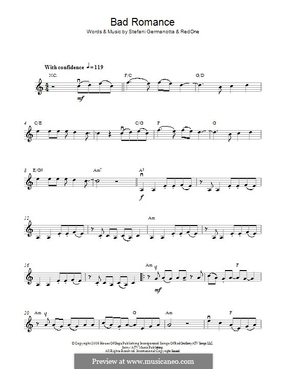 Bad Romance (Lady Gaga): Для скрипки by RedOne, Stefani Germanotta