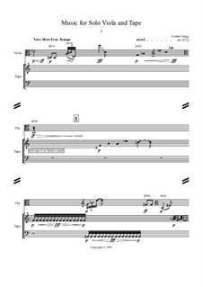 Music for Solo Viola and Tape: Music for Solo Viola and Tape by Jordan Grigg