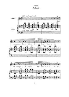 Три песни, Op.6: No.1 Aubade by Габриэль Форе