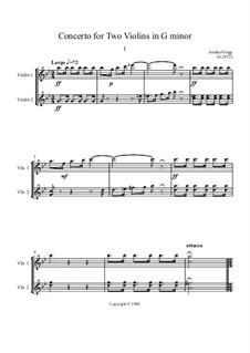 Concerto in G minor for Two Violins: Concerto in G minor for Two Violins by Jordan Grigg