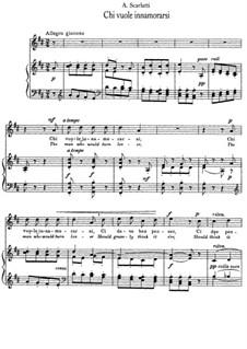 Chi vuole innamorarsi: Клавир с вокальной партией by Алессандро Скарлатти
