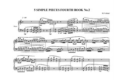 5 Simple pieces for piano: Fourth book, No.2, MVWV 695 by Maurice Verheul