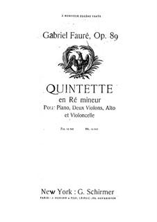 Фортепианный квинтет No.1 ре минор, Op.89: Партия альта by Габриэль Форе