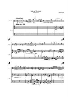 Viola Sonata No.1: Viola Sonata No.1 by Jordan Grigg