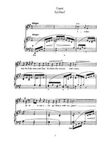 Три песни, Op.8: No.3 Ici-bas (F Sharp Minor) by Габриэль Форе