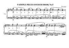 5 Simple pieces for piano: Fourth book, No.5, MVWV 698 by Maurice Verheul