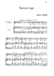 Tantum ergo: G Flat Major by Габриэль Форе