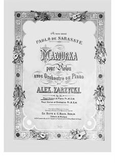 Мазурка соль мажор, Op.26: Для скрипки и фортепиано by Александр Зажицкий