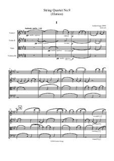 String Quartet No.9 in A major (Elation): String Quartet No.9 in A major (Elation) by Jordan Grigg