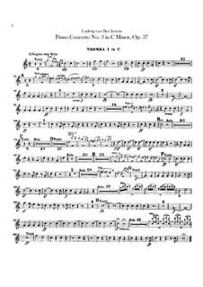Концерт для фортепиано с оркестром No.3, Op.37: Партии первой и второй труб by Людвиг ван Бетховен