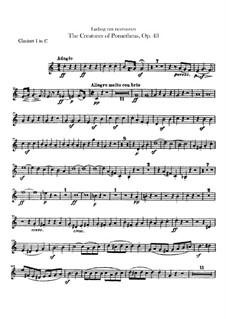 Творения Прометея, или Власть музыки и танца, Op.43: Партии I-II кларнетов by Людвиг ван Бетховен