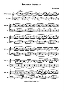 Two part inventions: Praeludium II Revisited: For alto saxophone and cello by Martin Twycross