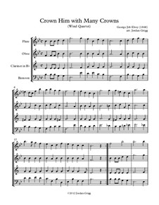 Crown Him with Many Crowns: For wind quartet by George Job Elvey