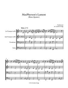 MacPherson's Lament: Для квартета медных духовых by James MacPherson