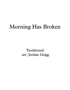 Morning has Broken: For easy piano and descant by Unknown (works before 1850)