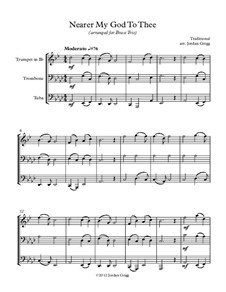 Ближе, Господь, к Тебе: For brass trio by Lowell Mason
