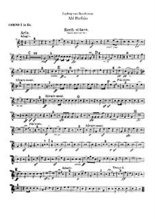 Ah! Perfido, Op.65: Партии валторн in Es by Людвиг ван Бетховен